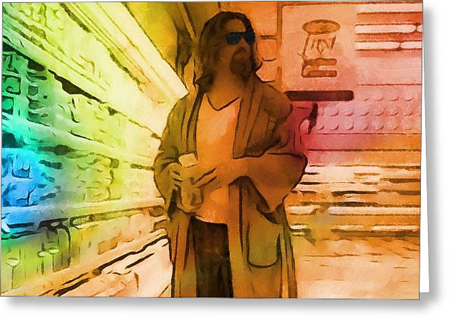The Dude Greeting Card by Dan Sproul