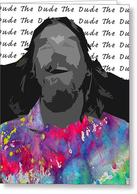 The Dude  Greeting Card by Empty Wall