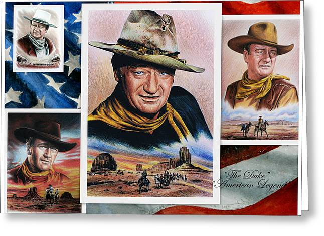 The Duke American Legend Greeting Card by Andrew Read