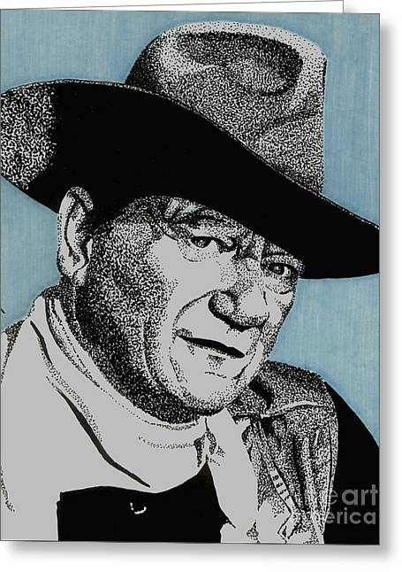 The Duke Greeting Card by Cory Still