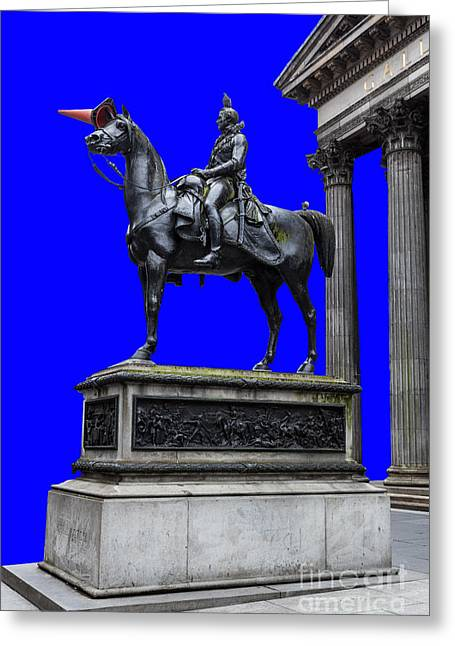The Duke Of Wellington Goma Blue Greeting Card by John Farnan