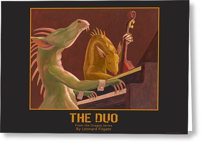 The Duo Greeting Card by Leonard Filgate
