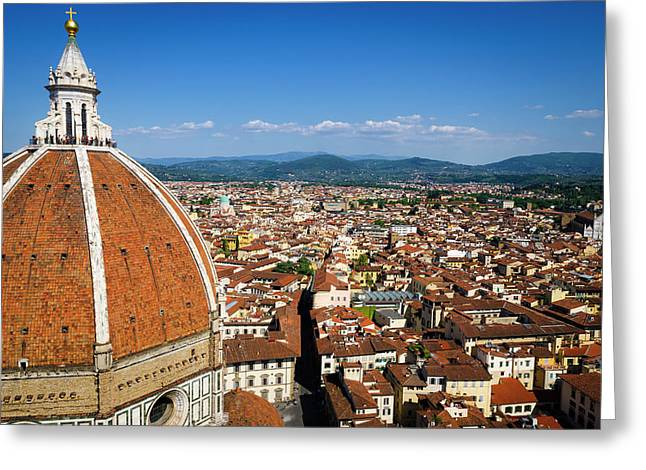 The Duomo Dome From Giotto's Bell Tower Greeting Card