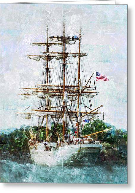 Tall Ship Eagle Has Landed Greeting Card