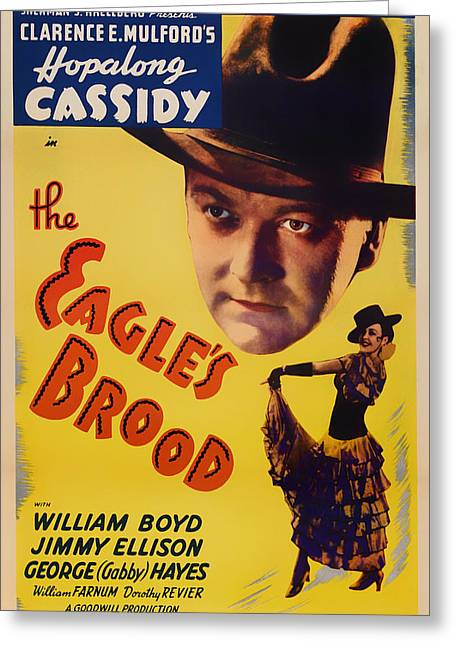 The Eagle's Brood Movie Poster 1935 Greeting Card by Mountain Dreams