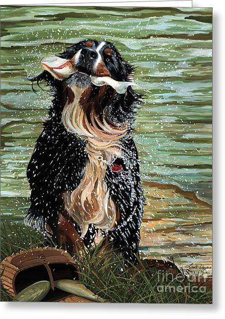 The Early Berner Catcheth Greeting Card by Liane Weyers