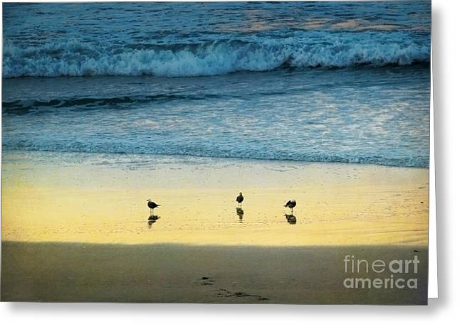 The Early Birds Greeting Card by Ellen Cotton