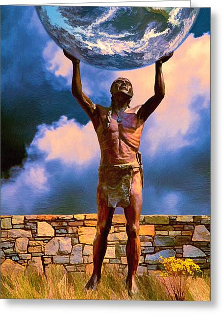 The Earth Is In Our Hands Greeting Card