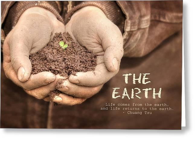 The Earth Greeting Card by Lori Deiter