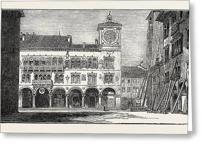 The Earthquake In Italy Belluno, The Town Hall Greeting Card