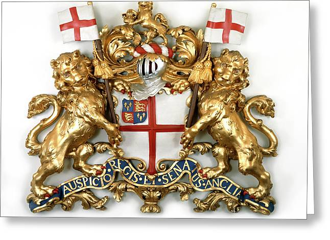 The East India Company Coat Of Arms Greeting Card by British Library