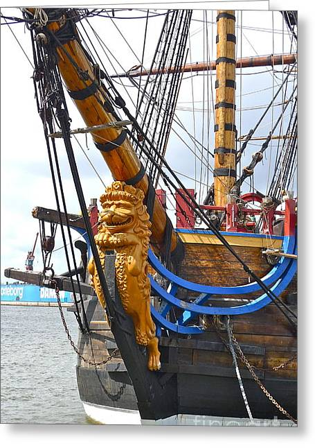 The East India Replica Ship Greeting Card