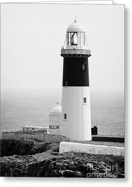 The East Light Lighthouse Altacarry Altacorry Head Rathlin Island Ireland  Greeting Card
