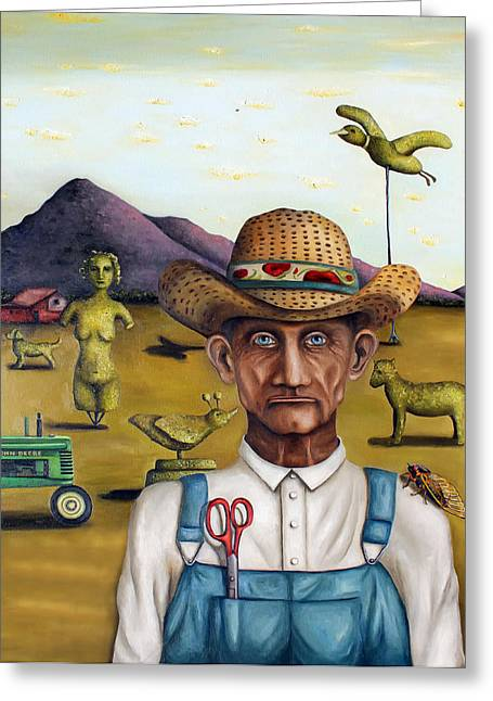 The Eccentric Farmer Edit 5 Greeting Card by Leah Saulnier The Painting Maniac