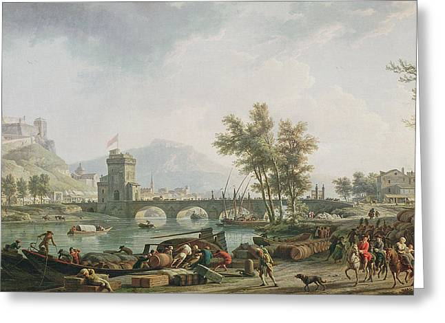 The Edge Of A Fair Les Abords Dune Foire, 1774 Oil On Canvas See Also 13025 Greeting Card