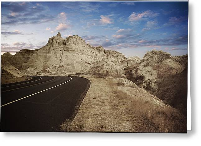 The Edge Of The Badlands Greeting Card by Jens Larsen