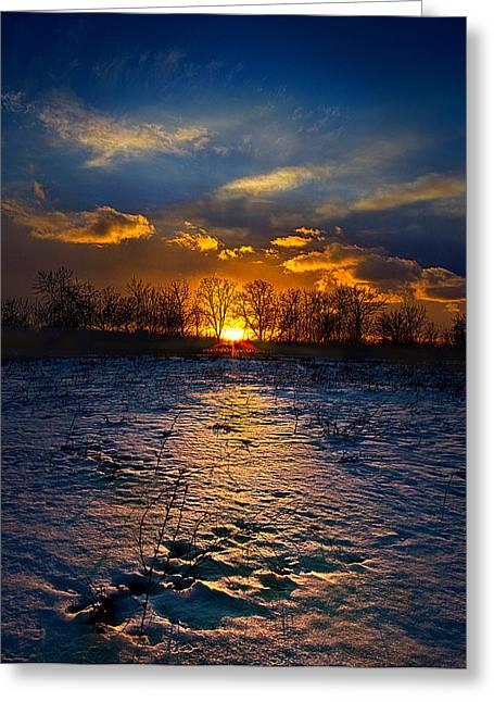 The Edge Greeting Card by Phil Koch