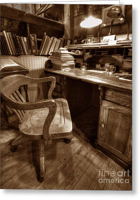The Editor's Desk Greeting Card by ELDavis Photography