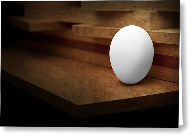 The Egg Greeting Card by Tom Mc Nemar
