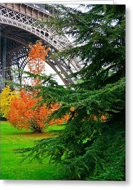 The Eiffel In Fall Greeting Card