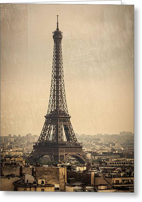 The Eiffel Tower In Paris France Greeting Card
