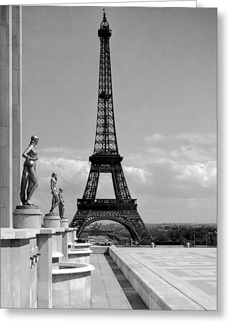 The Eiffel Tower Greeting Card by Underwood Archives