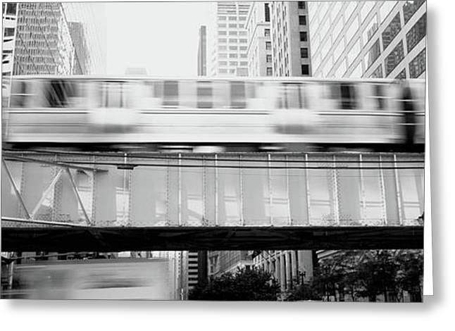 The El Elevated Train Chicago Il Greeting Card