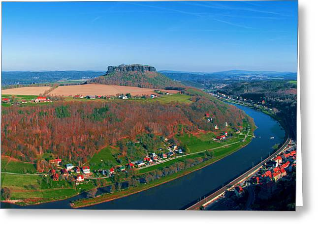 The Elbe Around The Lilienstein Greeting Card