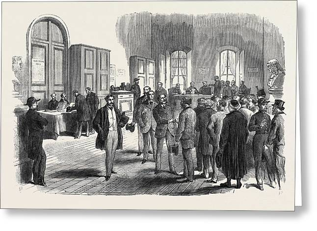The Elections In France Electors Voting At The Mairie Greeting Card by French School
