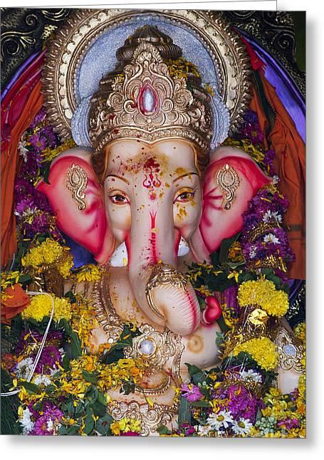 The Elephant God Greeting Card by Tim Gainey