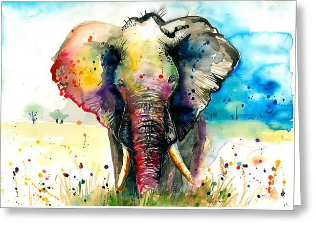 The Elephant - Xxl Format Greeting Card