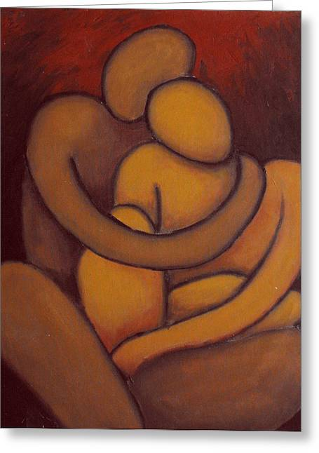 The Embrace Greeting Card by Estefan Gargost