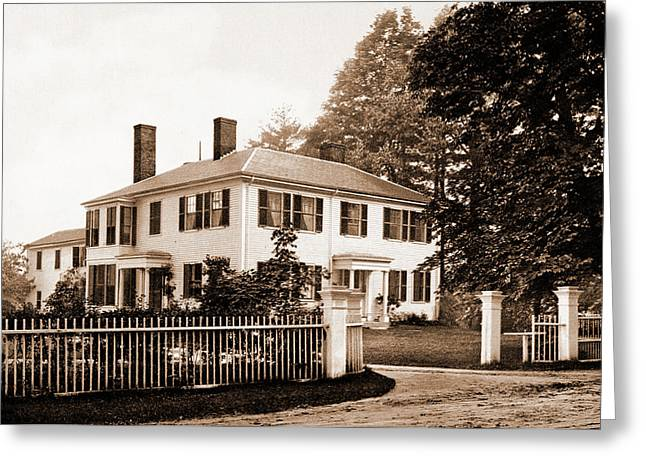 The Emerson House, Concord, Emerson House Concord Greeting Card by Litz Collection