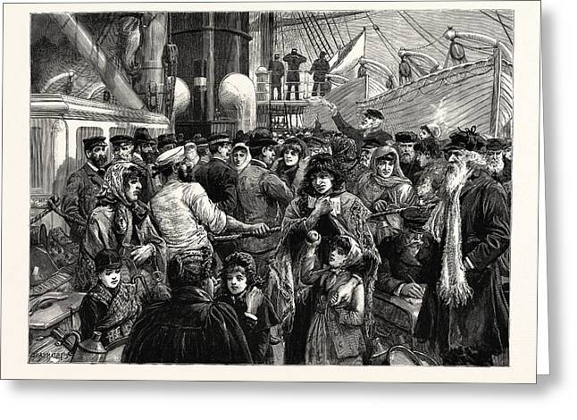 The Emigration Of The Russian Jews, The Doctor Examining Greeting Card by English School