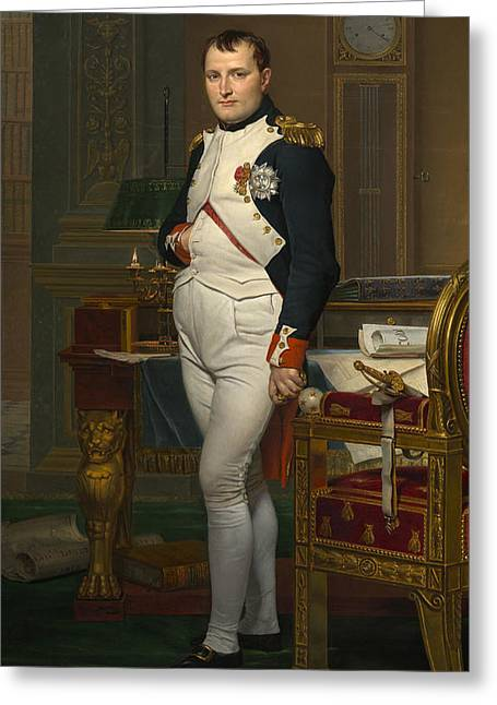 The Emperor Napoleon In His Study Greeting Card by Mountain Dreams