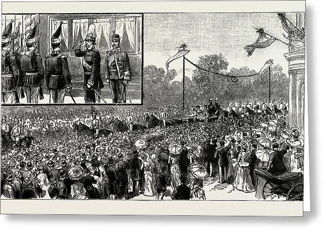 The Emperor Of Austrias Visit To Berlin Greeting Card by Litz Collection