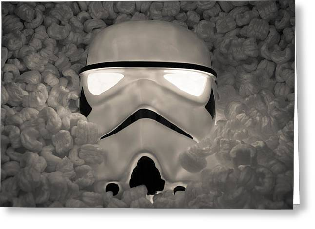 The Empire Pays Peanuts Greeting Card by Randy Turnbow