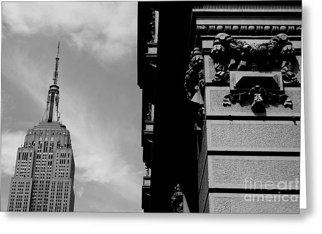 Greeting Card featuring the photograph The Empire State Building by Steven Macanka