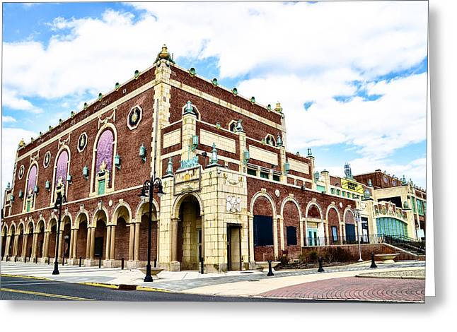 The Empire Theater Asbury Park Nj Greeting Card by Bill Cannon