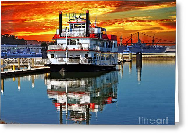 The End Of A Beautiful Day In The San Francisco Bay Greeting Card by Jim Fitzpatrick