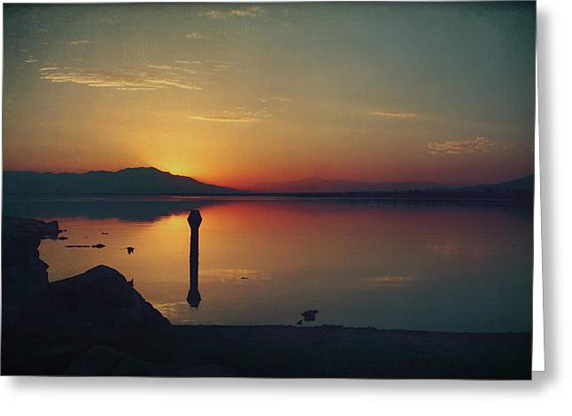 The End Of Another Day Without You Greeting Card by Laurie Search