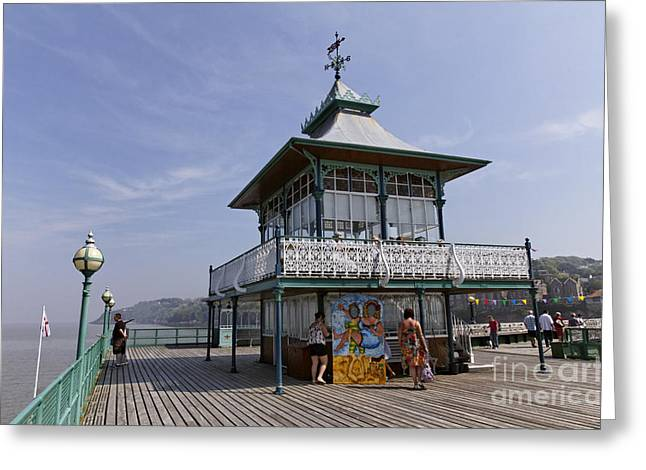 The End Of Clevedon Pier Somerset England Greeting Card