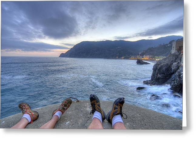 The End Of The Day In Monterosso Greeting Card