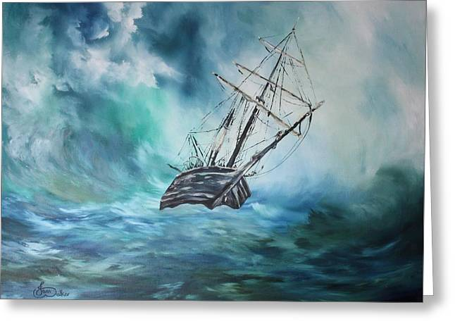 The Endurance At Sea Greeting Card by Jean Walker