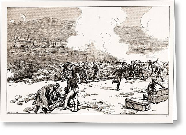 The Engagement At Mati Greek Artillery Making Good Practice Greeting Card by Litz Collection