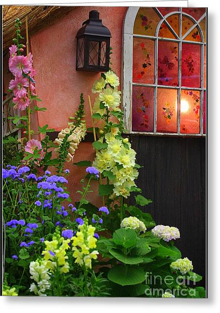 The English Cottage Window Greeting Card