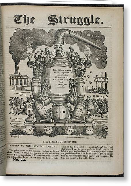 The English Juggernaut Greeting Card by British Library
