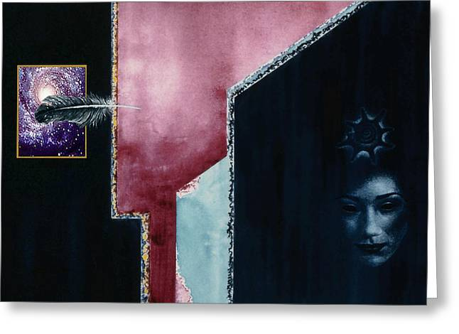 The  Enigma Greeting Card by Hartmut Jager