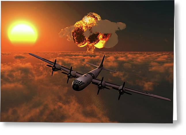 The Enola Gay B-29 Superfortres Nuclear Greeting Card