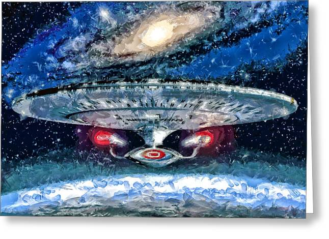The Enterprise Greeting Card by Joe Misrasi